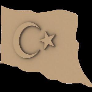 Dalgalı Türk Bayrağı BDK-0002